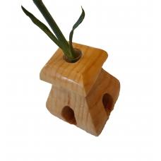 Vaza din lemn TIP C cu eprubeta 5ml