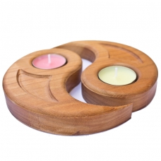 Suport lumanare de tip pastila - model yin si yang