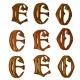 Monograme sculptate in lemn