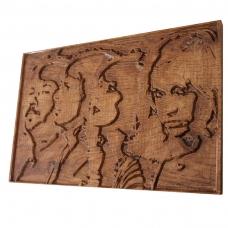 Tablou sculptat in lemn ABBA