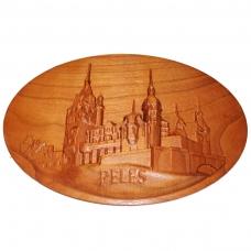 Tablou sculptat in lemn Castelul Peles