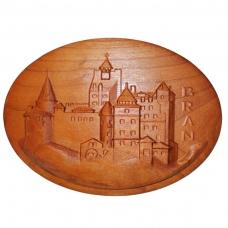 Tablou sculptat in lemn Castelul Bran