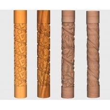Benzi spiralate pe coloane