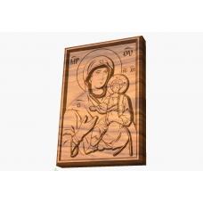 Icoane sculptate dupa Icoane celebre pictate