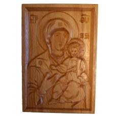 Icoane sculptate dupa Icoane pictate bizantine