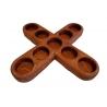 Suport lumanari in forma de cruce din mahon