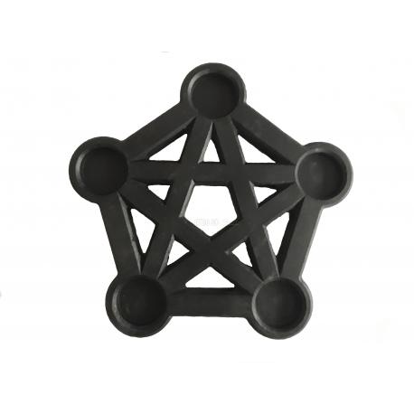 Suport lumanari in forma de pentagrama cu margini sanfrenate